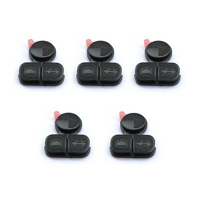 5PCS Wholesale Replacement Remote Key Buttons 3 Button Rubber Pad Fits:BMW 3 5 7