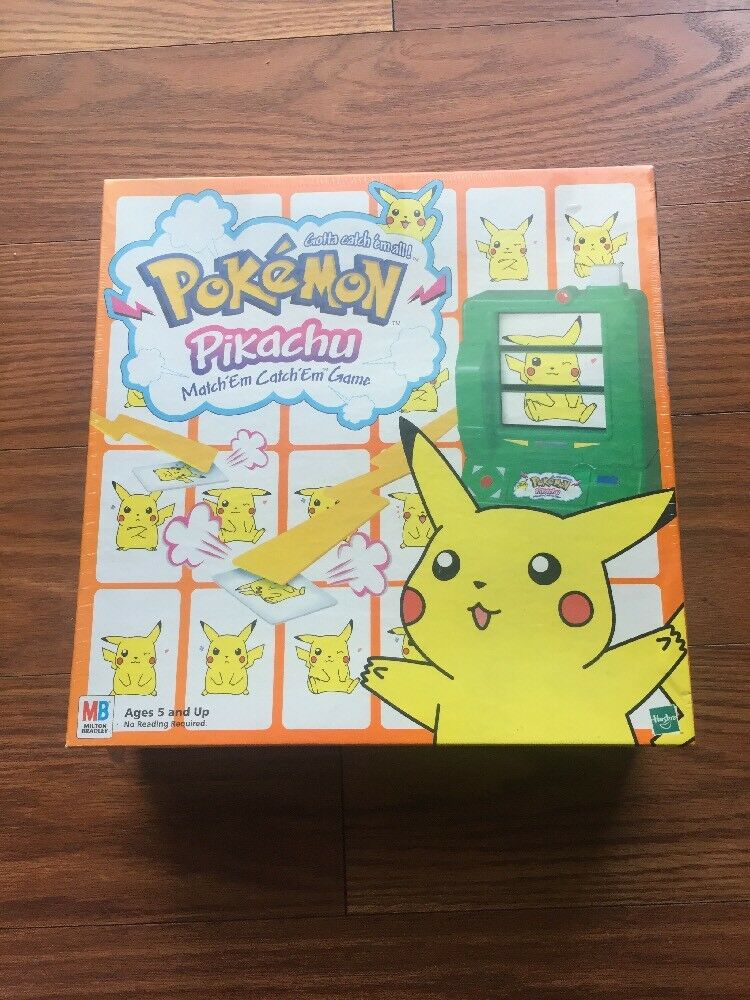 VINTAGE HASBRO POKEMON PIKACHU MATCHEM CATCHEM MATCH ALL GAME SEALED