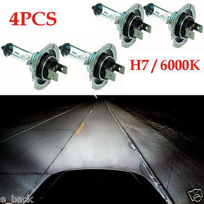 4PC DC 12V Super Bright H7 55W 6000K Headlight Cool White Fog Light Lamp Bulbs