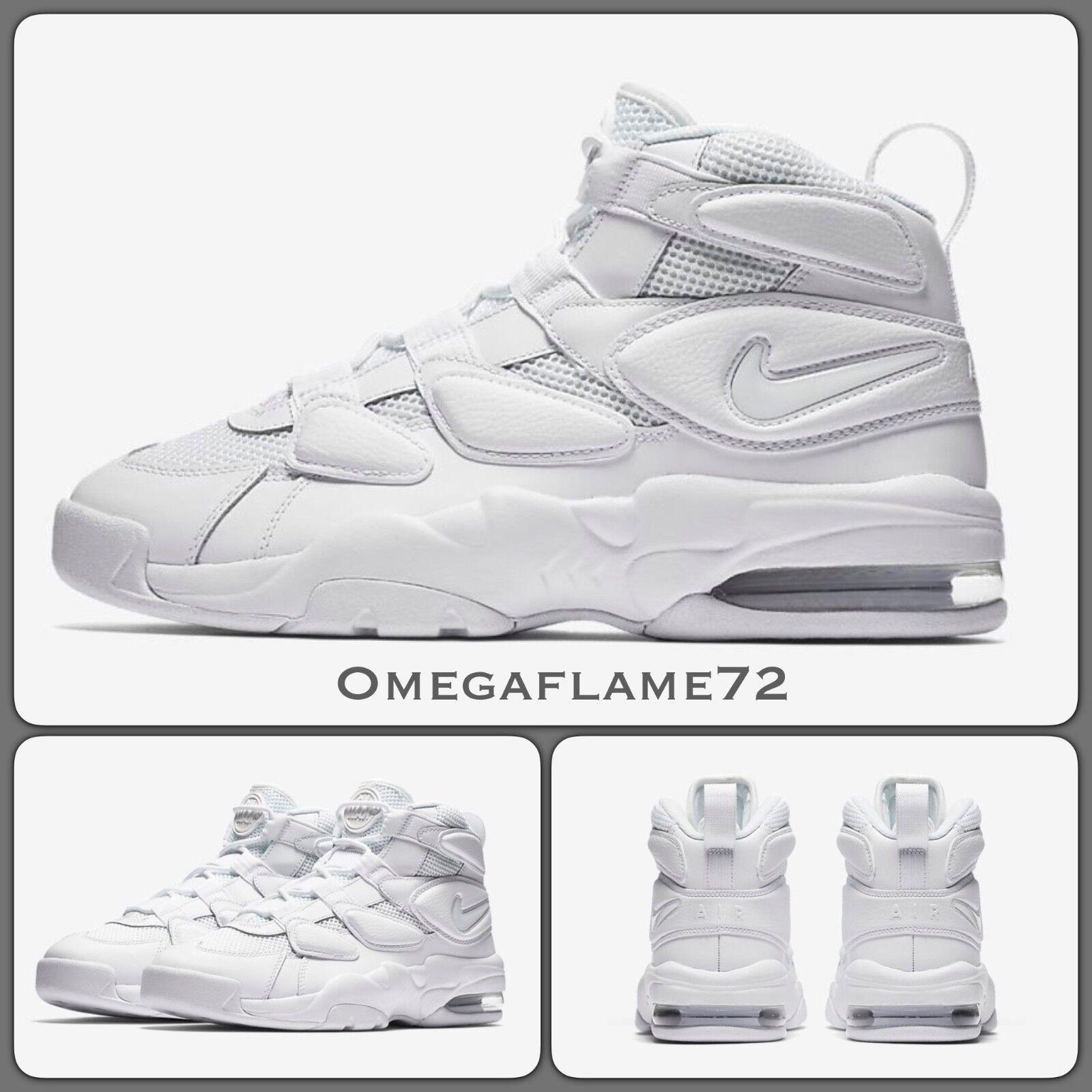 Nike Air Max Uptempo '94, Sz 9, EU 44, US 10, 922934-100 Triple blanc