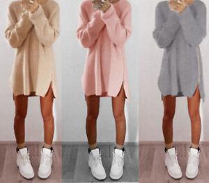 Damen-Sweatshirt-Pulli-Pullover-Cardigan-Sweater-Strickjacke-Longshirt-Oversize