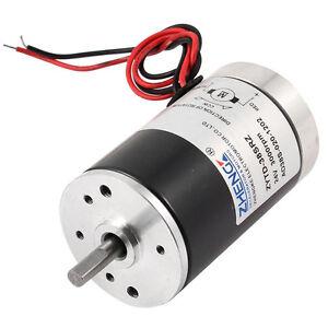 Generic 24V 3000RPM 5mm Shaft Dia Permanent Magnetic Speed Reduce DC Motor ED