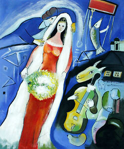 Marc Chagall La Mariee Vintage Print | eBay