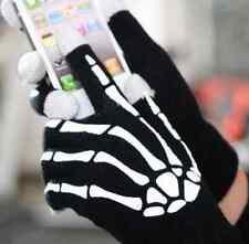 Adult soft Skeleton phone Tablet touch screen Gloves Bones Hands Skull Mitten hs