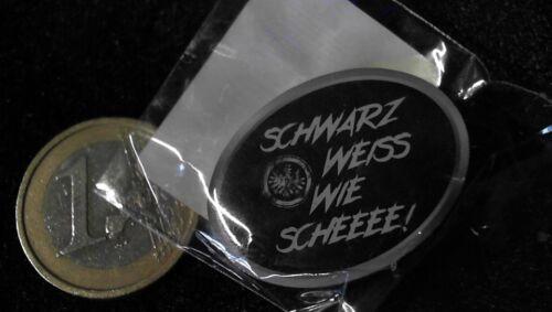 Eintracht Frankfurt Pin Badge Schwarz weiß wie Schnee Logo Original Verpackt