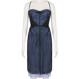 Marios-Schwab-Black-Lavender-Blue-Layered-Power-Mesh-Dress-US4-UK8