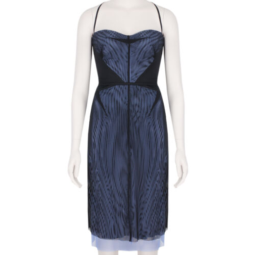 Lavender Us4 Black Layered Mesh Marios Dress Uk8 Schwab Power Blue REw8T