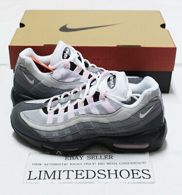 Nike Air Max 95 Prm Gunsmoke Grey Pink Foam Cj0588 001 Mens Us 7