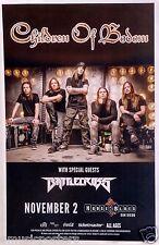 CHILDREN OF BODOM / BATTLECROSS 2014 SAN DIEGO CONCERT TOUR POSTER - Metal Music