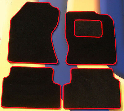 Red Trim /& Heel Pad Ford Fiesta mk7 08-11 Tailored Black Carpet Car Mats