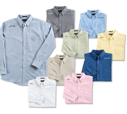 8970 UltraClub Men/'s Classic Wrinkle Free Long-Sleeve Button Down Oxford Shirt