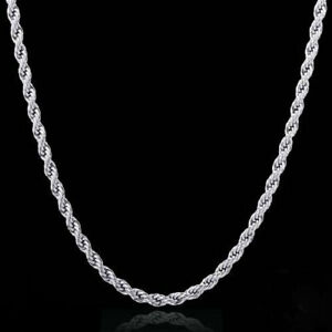925-Sterling-Silver-Plated-anti-tarnish-Rhodium-Rope-Necklace-2mm-16-through-30-034