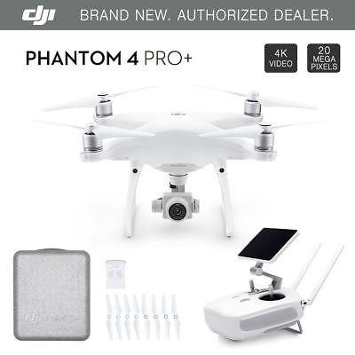 "DJI Phantom 4 PRO+ PLUS Drone 4k w/ Gimbal Camera 1080p 20MP + 5.5"" Display NEW"