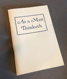 As-a-Man-Thinketh-James-Allen-Vintage-Paperback-Booklet-LDS-Mormon