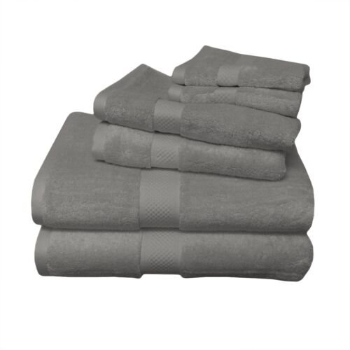 Superior 6 PC Bamboo Cotton Blend Towel Set Highly Absorbent Hotel /& Spa Quality