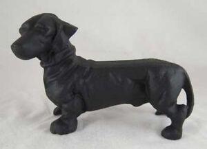 Details about BLACK DACHSHUND DOG CAST IRON