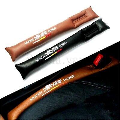 A Pair Car Mugen Power Brown Leather Seats Gat Filler Stop Gap Filler Holster