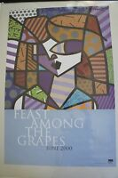 Romero Britto Poster: Purple Eyes (june 2000) Rare