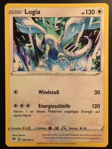DE! Pokemon! Rare Near Mint Lugia Flammende Finsternis 140//189
