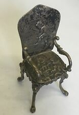 Antique Solid Silver Miniature Chair Continental Imported 19th Century