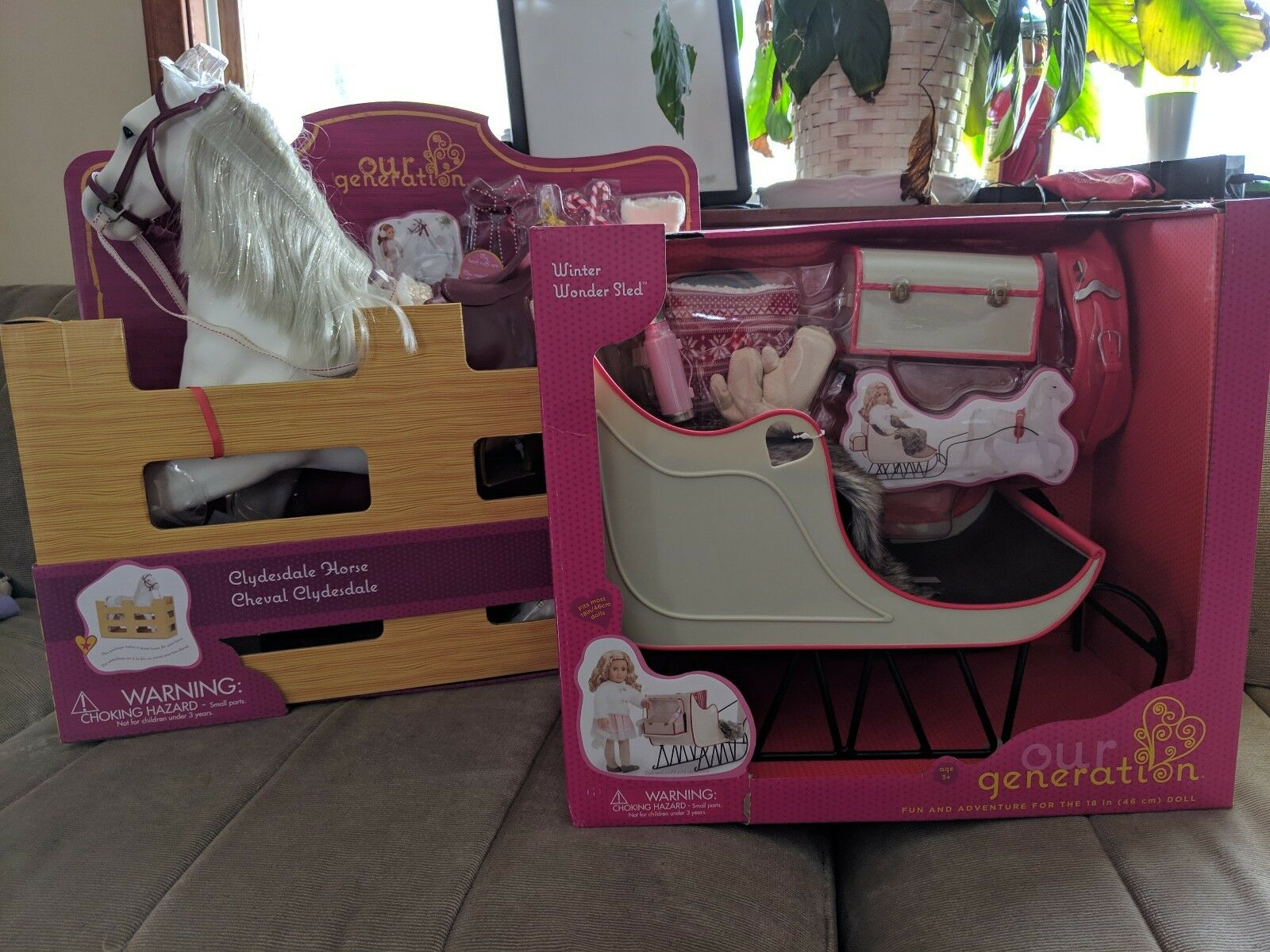 Our Generation Pferd AND Sleigh NIB Fits American Girl