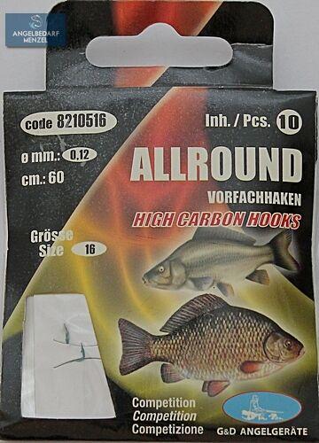 Allround Size 6-16 Hooks Target Fish Hook Tippet Hooks Hook finished Paladin
