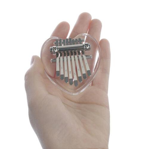 Tragbares süßes 8 Tasten Mini Kalimba Acryl Klavier mit klarem Daumen für