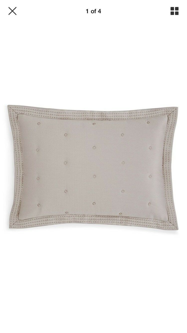 Hudson Park Luxe Greenwich Quilted King Sham , NEW_ One Only