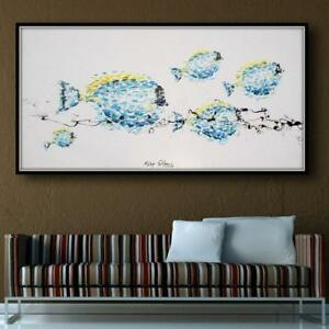 Blue-Fish-55-034-animal-oil-painting-blue-tones-calming-composition-handmade