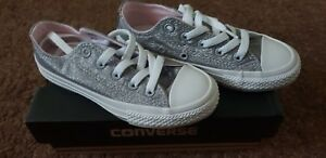 Converse All Enfants pour 11 Sparkle Uk Taille Ox Star Baskets qIHrRfIw