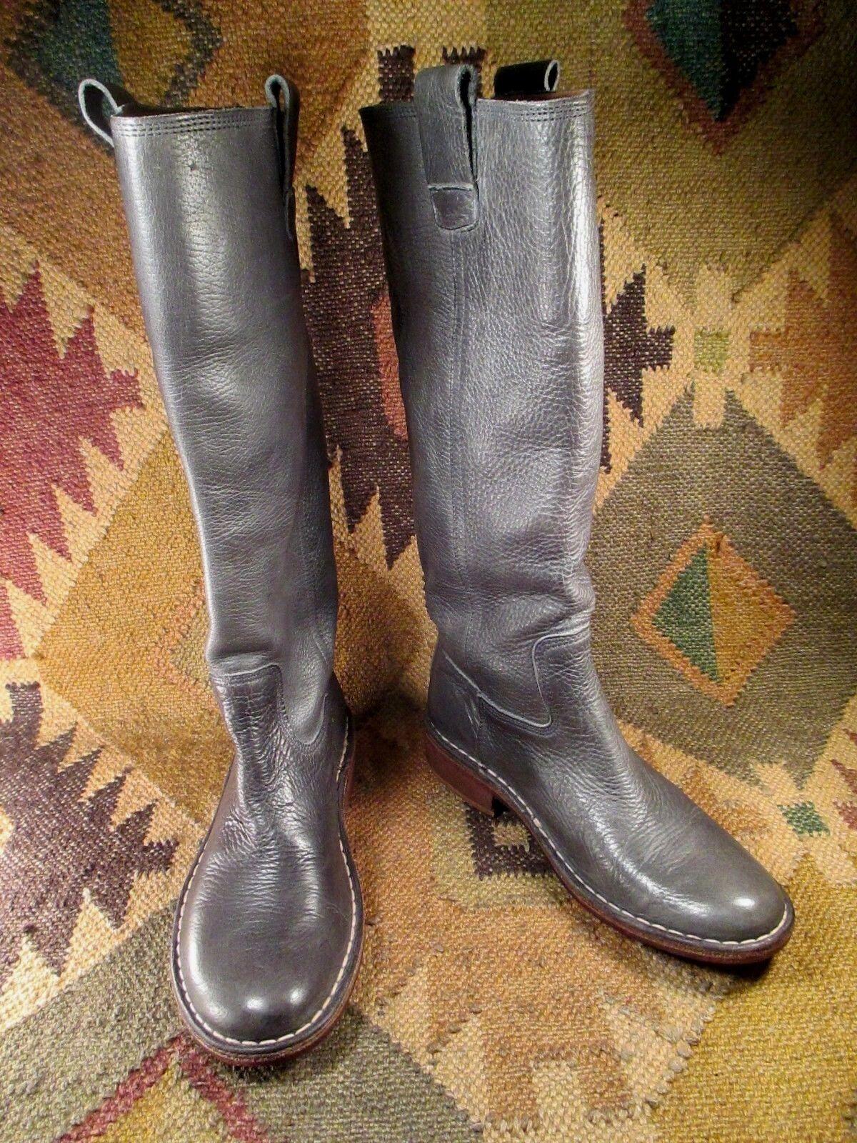 Kickers 70 midum Hecho gris Original Cuero Grueso botas Talla 7 Hecho midum En Portugal c84a61