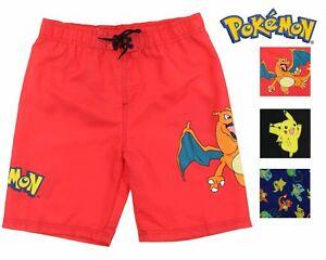 976fc76c75 Image is loading InGear-Boys-Pokemon-Swim-Trunk-Shorts-Pikachu-Charizard-
