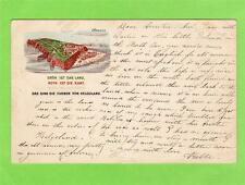 Heligoland Helgoland  British possession Early Gruss Aus ppc used 1887 Scarce