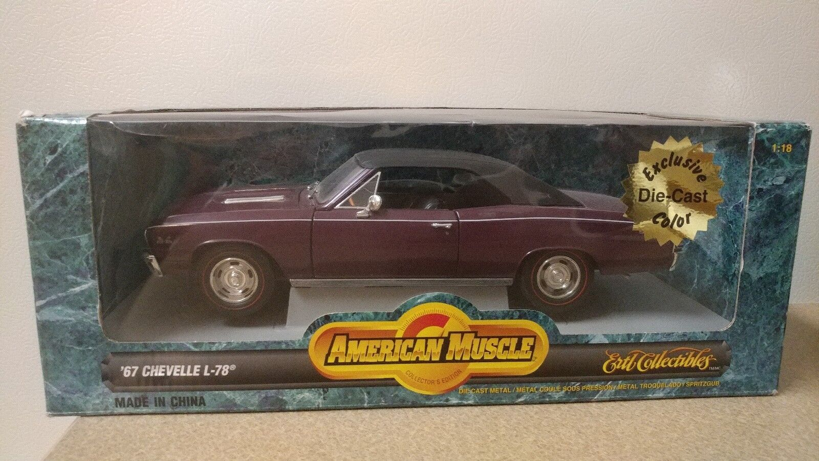 '67 CHEVELLE L-78 Limited Edition 1 18 diecast ERTL American Muscle