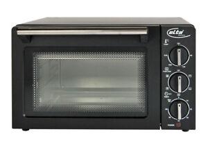 14L-ELTA-Umluftofen-Braun-Miniofen-Pizzaofen-26cm-UMLUFT-Minibackofen-1200W-NEU