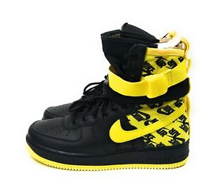 Nike SF AF1 Air Force 1 Mens Shoes Black Dynamic Yellow Size 10.5  c6d8d31f4
