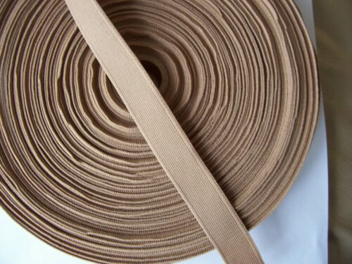 Beige//brown poly webbing good quality Free P/&P 5 metres 19mm 3//4/""