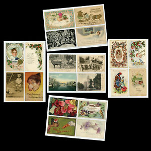Mixed-Lot-of-20-Antique-Postcards-1900s-1910s-Vintage-2