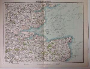 Canterbury thames antique map c1898 bartholomew royal atlas of image is loading canterbury thames antique map c1898 bartholomew royal atlas gumiabroncs Gallery