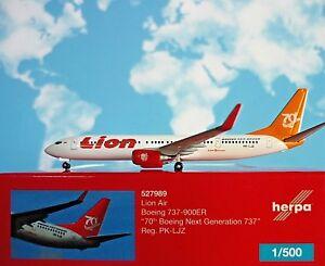 Herpa-ALI-1-500-Boeing-737-900ER-LIONE-AIR-70th-pk-ljz-527989-modellairport500