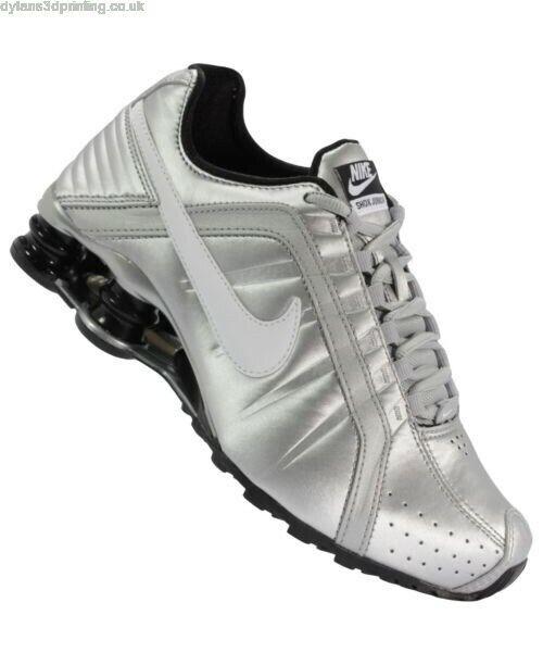 Neu in Box Neuer Frauen Nike Shox Schuhe 454339 018 Torch Reax Silber