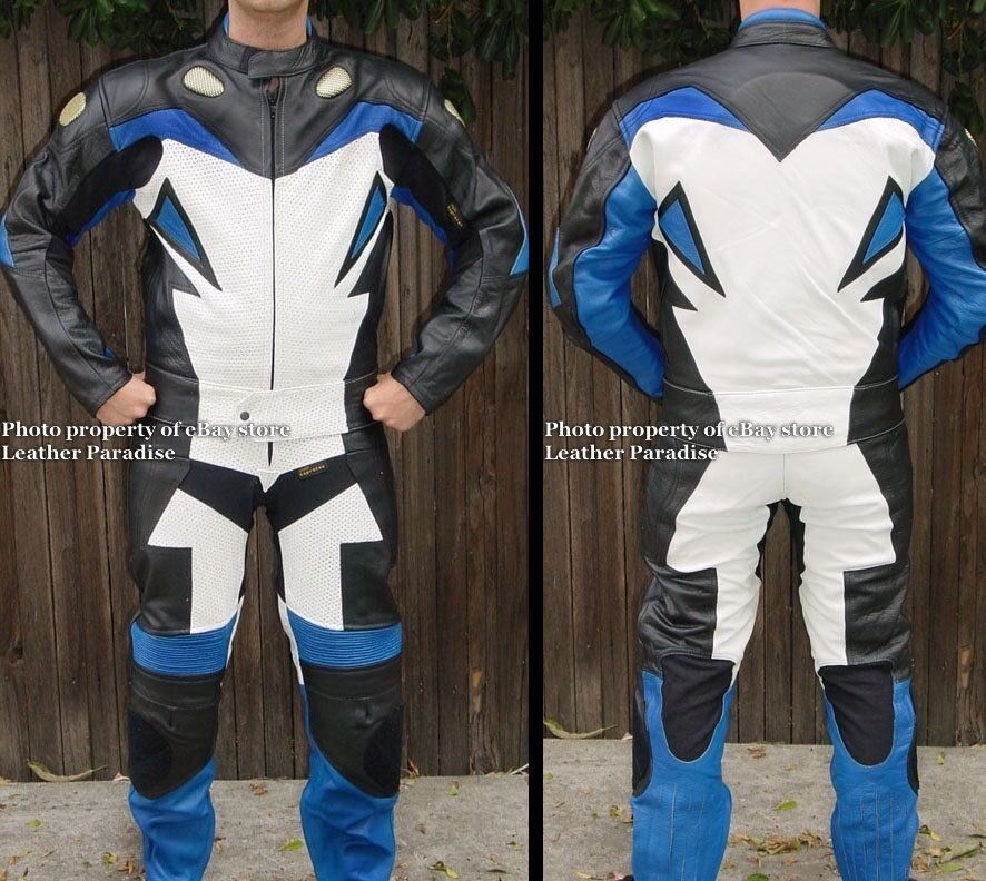 2pc Viper Downhill Skating S boarding Street  Luge Leather Suit bluee GP Armor  various sizes