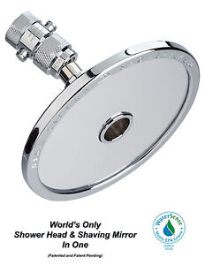 High Sierra/'s 1.5 GPM Low Flow Shower Head /& Non-Fogging Shaving Mirror In One