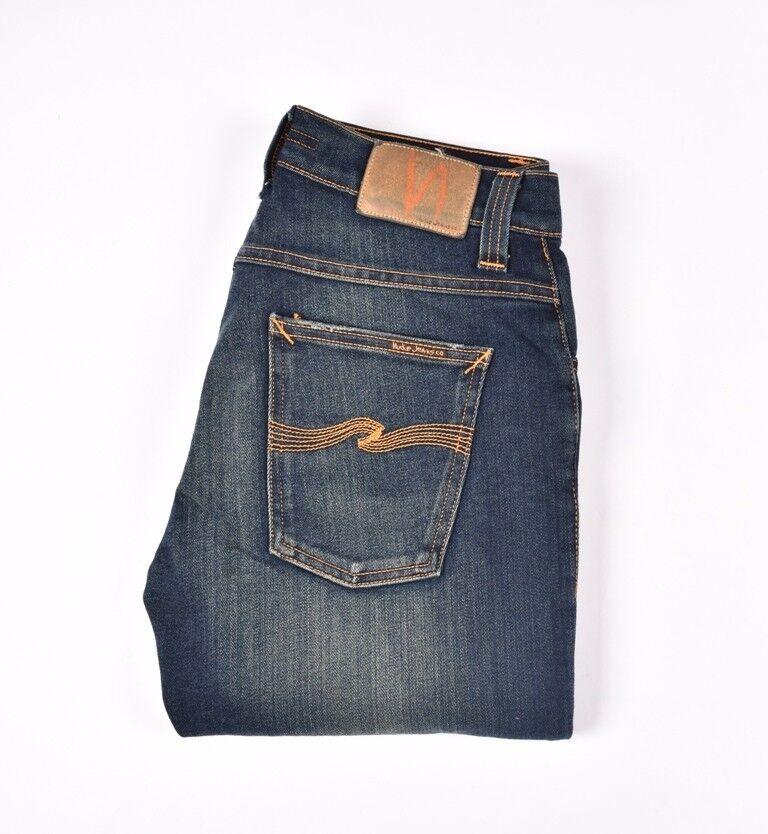 NUDIE JEANS Grim Tim Deep bluee Dark bluee men Jeans Size 30 34