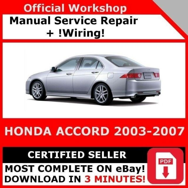 Pdf download honda accord 2003-2007 repair manual (haynes repair ma….
