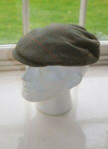 NUOVO LAWRENCE FOSTER Tweed Inglese /& Tweed Helmsley Flat Cap Hat SHOOTING