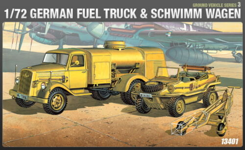 Academy Models 1//72 German Fuel Truck and Schwimmwagen