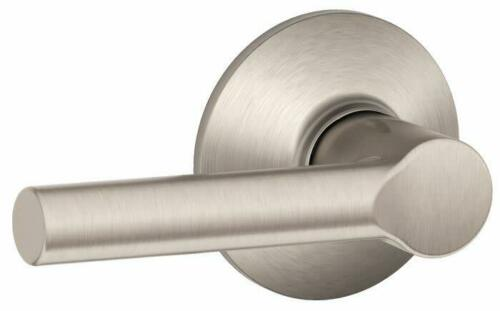 Schlage F10-BRW Nickel Broadway Passage Door Lever Set