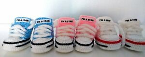 BABY-CROCHET-HANDMADE-SHOES-BOOTS-BOOTIES-KNITTING-FIRST-SHOES