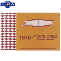 1970 Monte Carlo Owners Manual